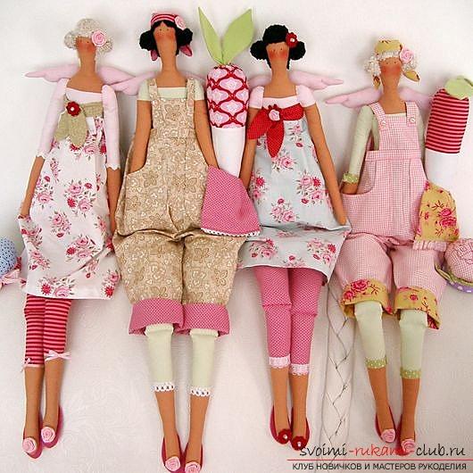 Выкройка куклы Тильда