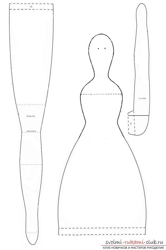 Куклы из ткани выкройки мастер класс пошагово