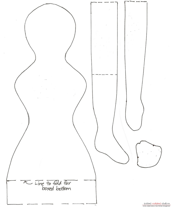 Выкройка на текстильную стоячую куклу своими руками выкройка