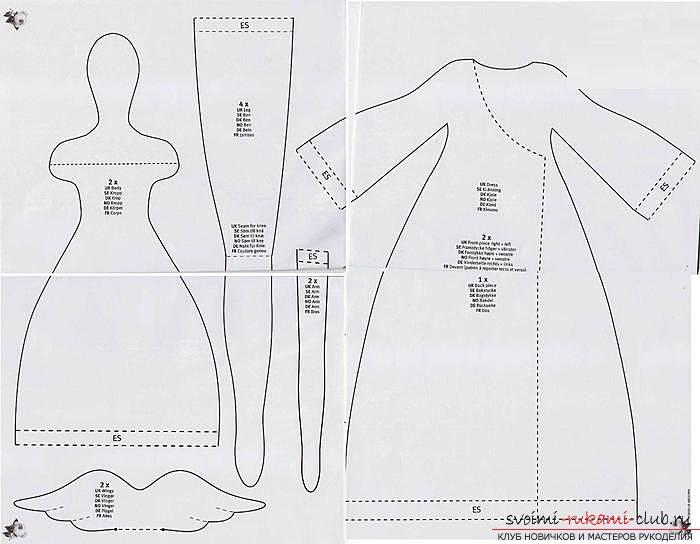 Схемы выкройки платья для куклы
