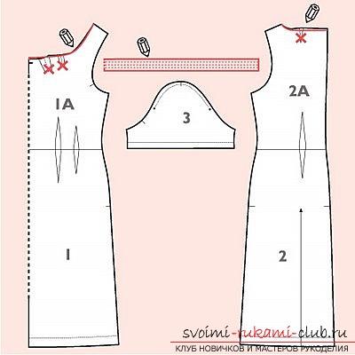 Построение выкройки платья летнего