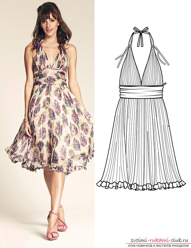 Эскизы для выкройки летних платьев
