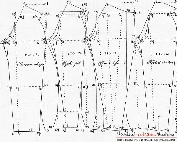 Эскиз мужских брюк
