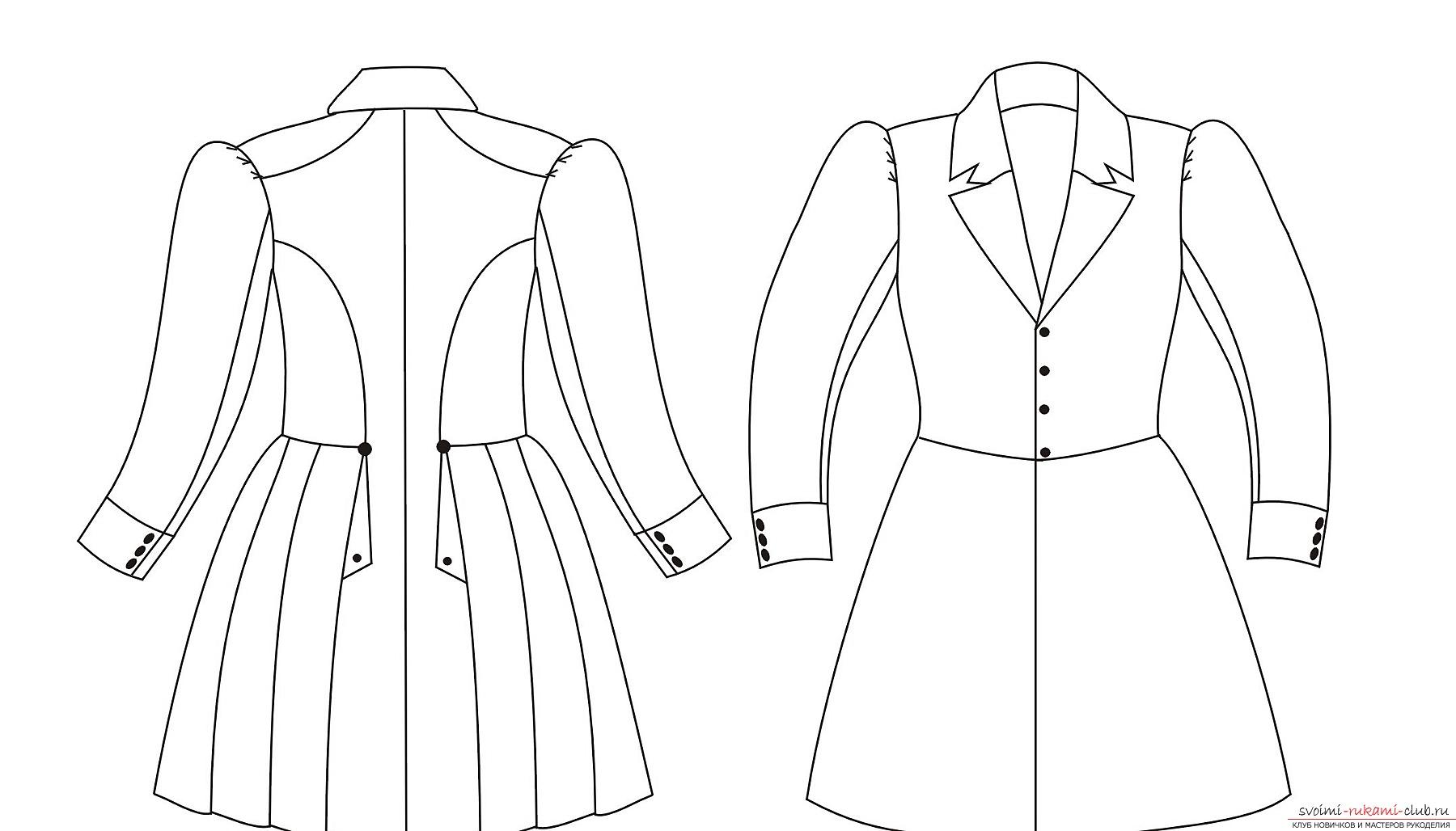 Выкройка пальто для девочки - создай своей принцессе стильную зиму