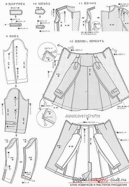 Выкройка верхней части мужского пальто