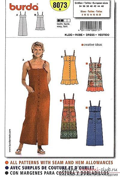 Как сделать выкройку летнего платья