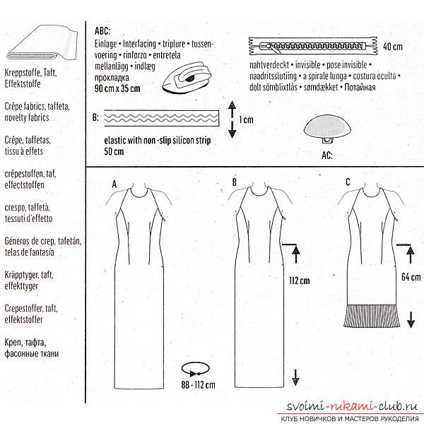 Схема пошива платья бурда-
