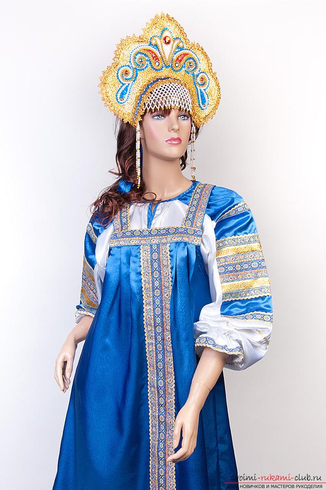 Выкройка русского народного сарафана