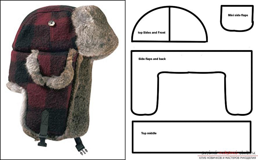 Сшить шапку ушанку из искусственного меха своими руками выкройки 21