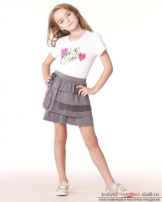 Выкройки юбок и жилеток для девочки