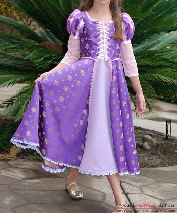 Платье как у рапунцель своими руками