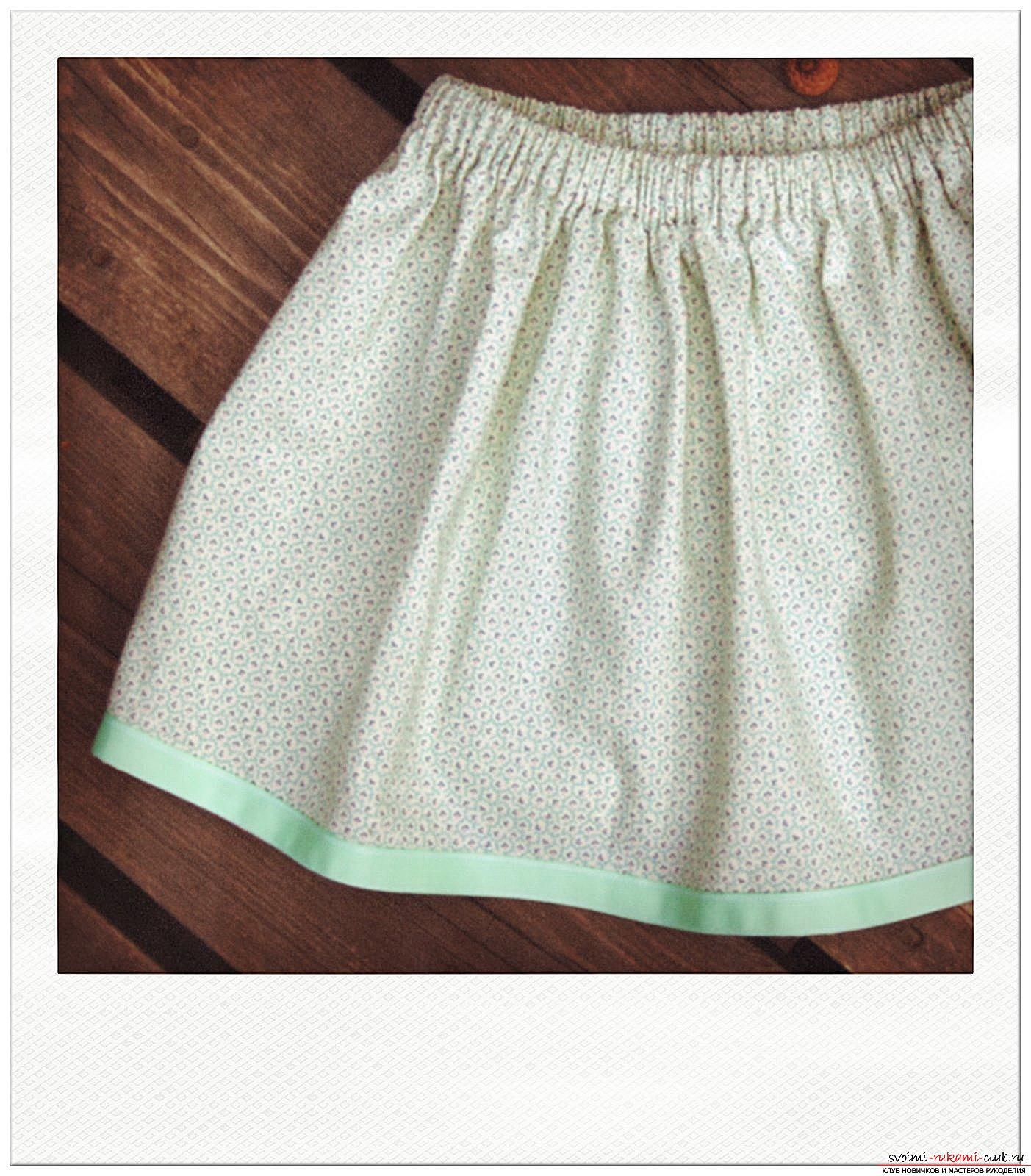 Вязание простых юбок для девочки