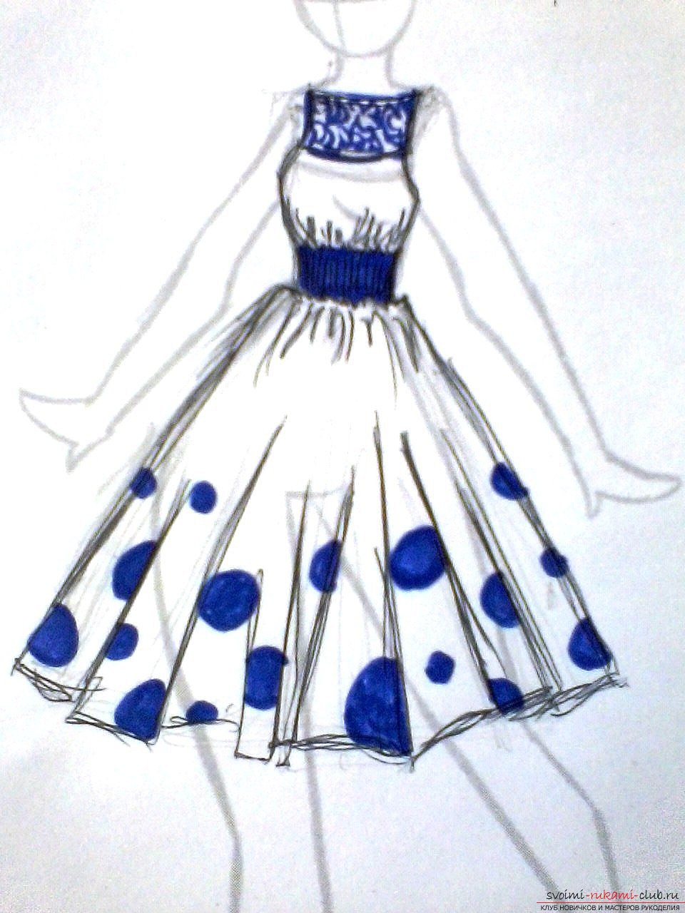 Фото рисунки дизайн платьев