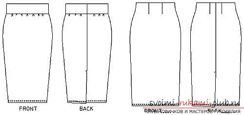 Простая выкройки для юбки карандаш
