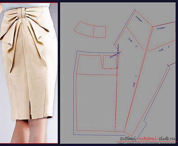 Красивая юбка карандаш и ее