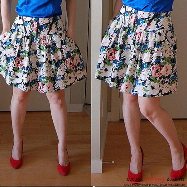 Пышная юбка на кокетке выкройка