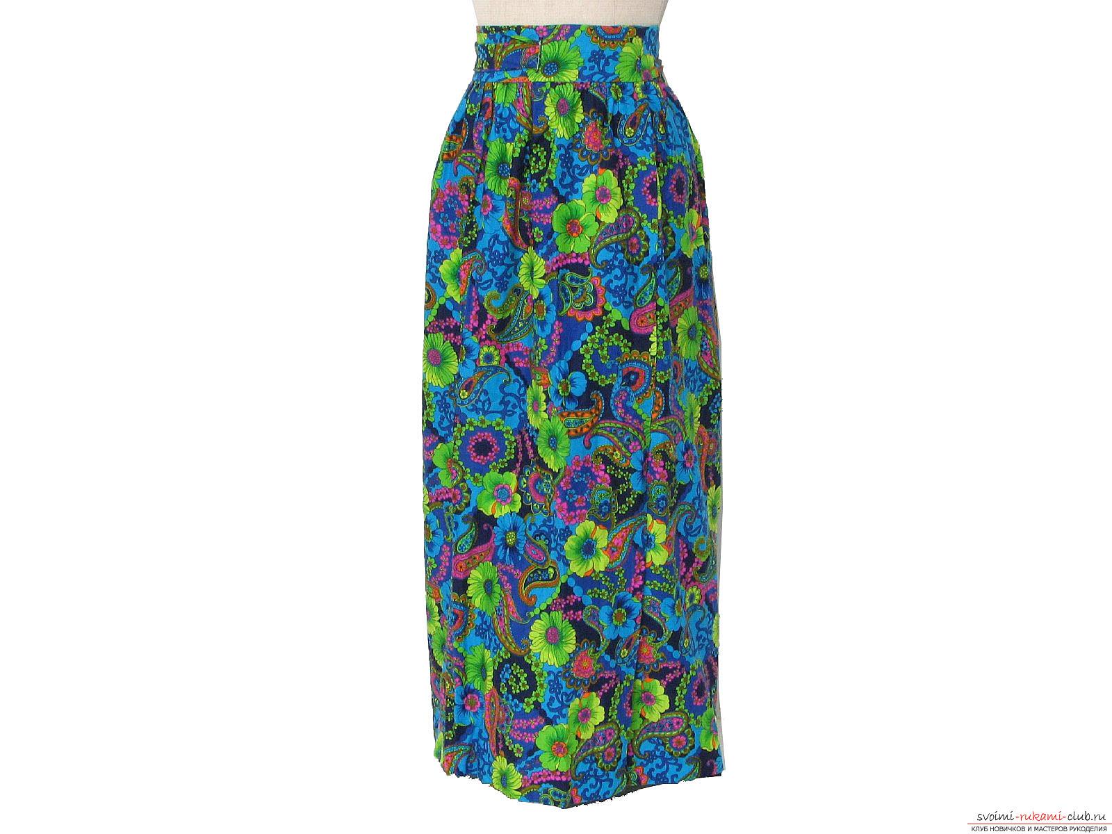 Выкройка летнюю легкую юбку