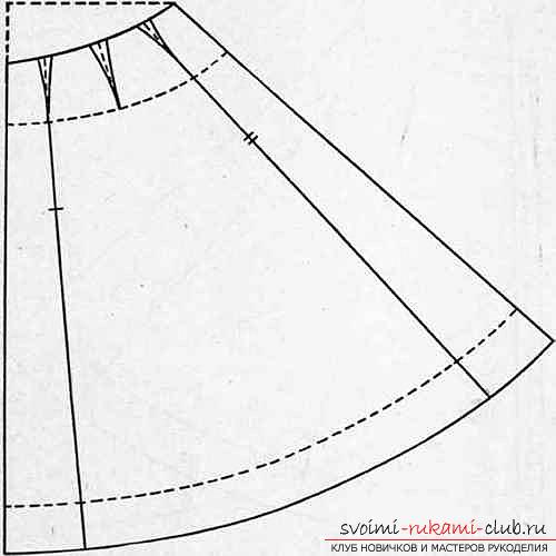 Построение юбки в пол