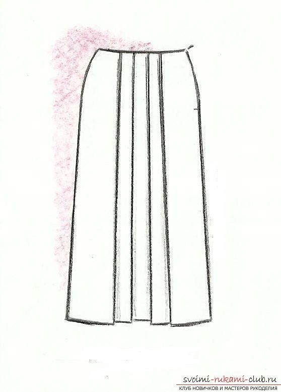 Сшить юбку в складку своими руками для девочек 498