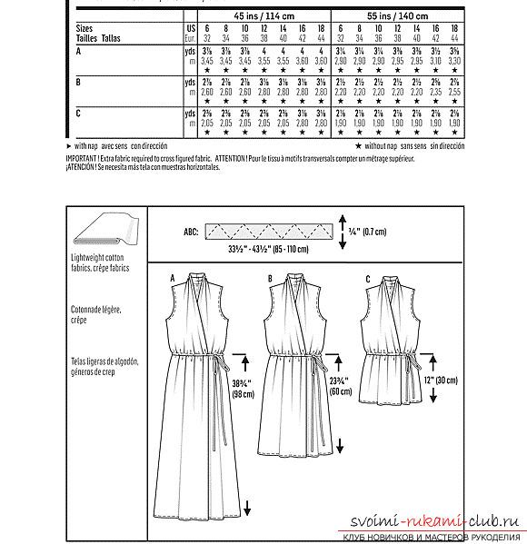 Схемы и выкройки женских платьев