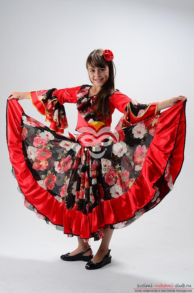 Выкройка цыганского костюма своими руками
