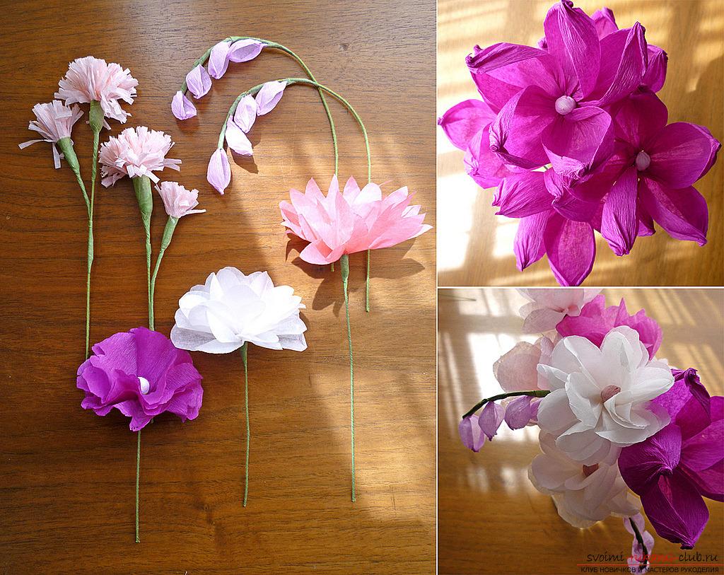 Как сделать из крафта цветы