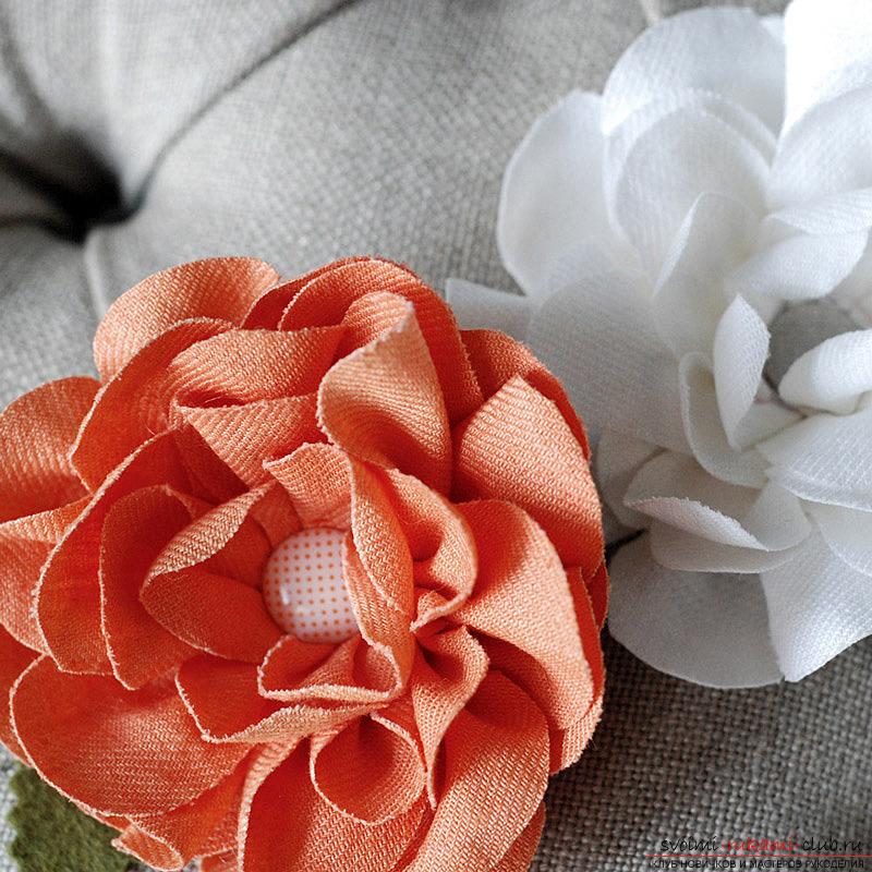 цветы из ткани своими руками схемы фото
