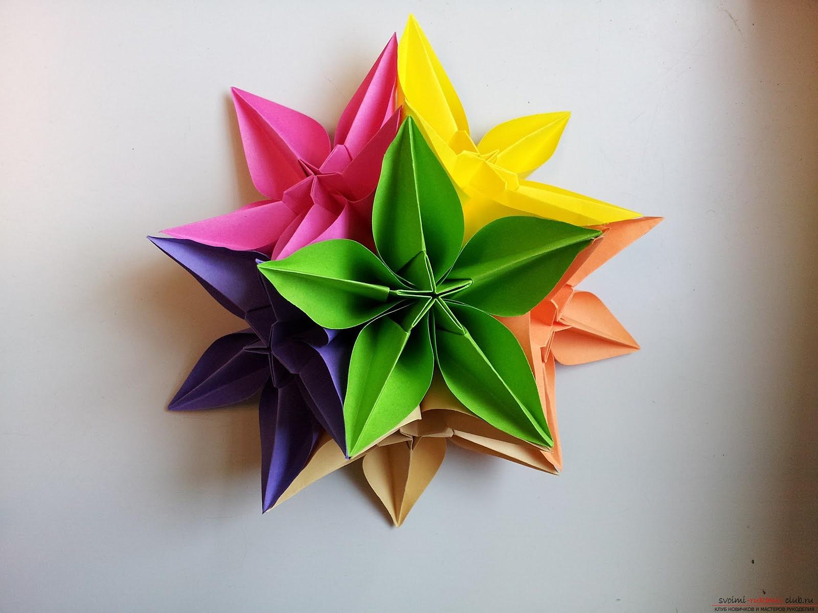 Объемный цветок из бумаги своими руками шаблоны