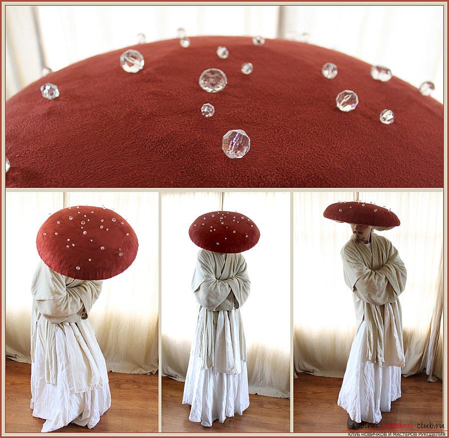 Сшить своими руками шляпу гриба из 70