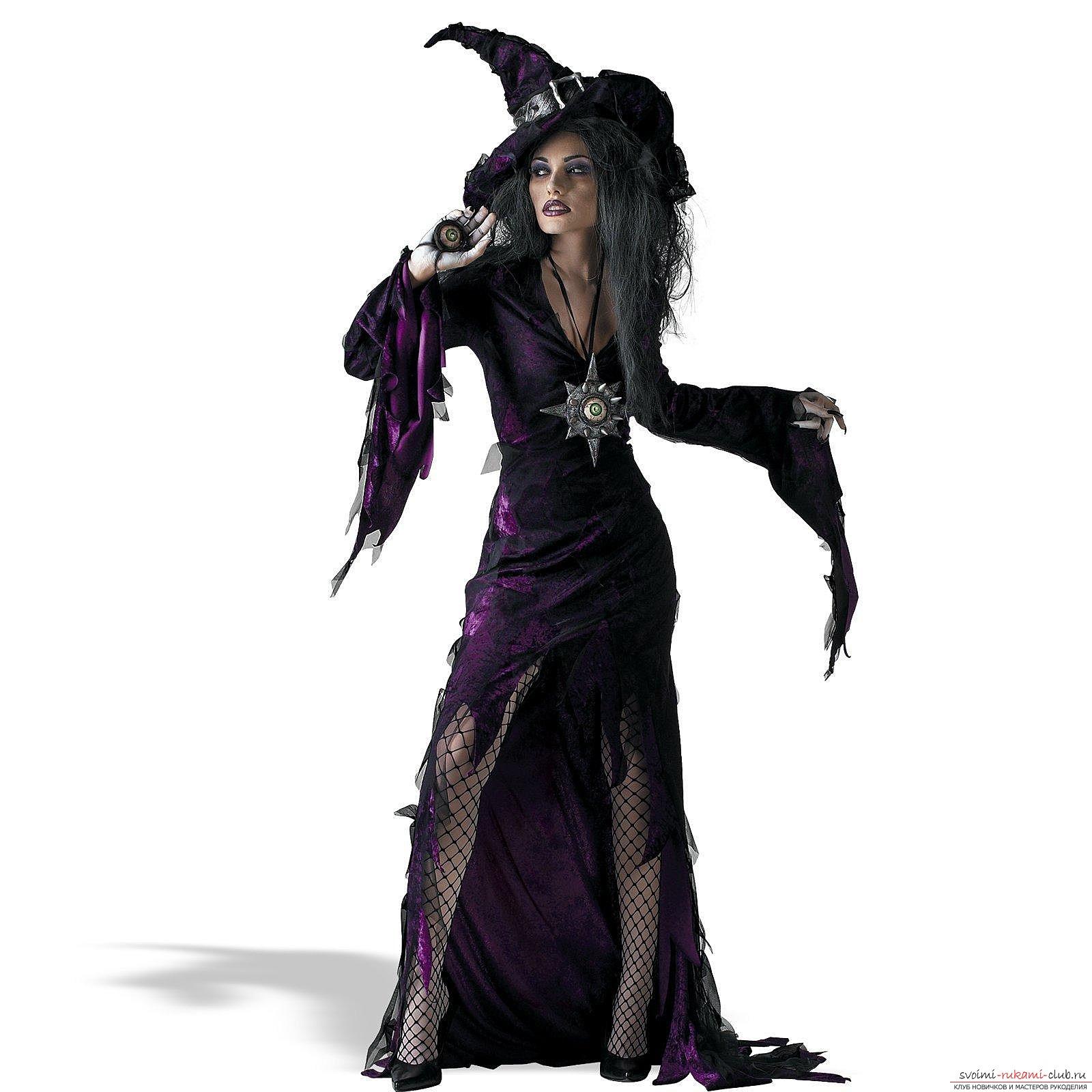 Костюм и макияж ведьмы на Хэллоуин, создаем образ (фото и видео)