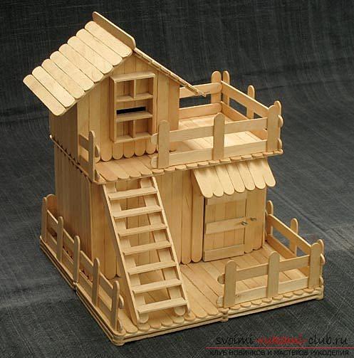Как сделать домик из палочек своими руками
