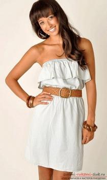Оригинальный дизайн простых выкроек летних платьев. Красивый наряд