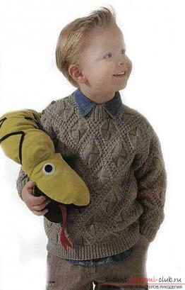 Схема свитера для мальчика спицами фото 902