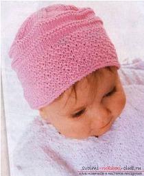 Вяжем шапку спицами для детей. Схема вязания спицами детских