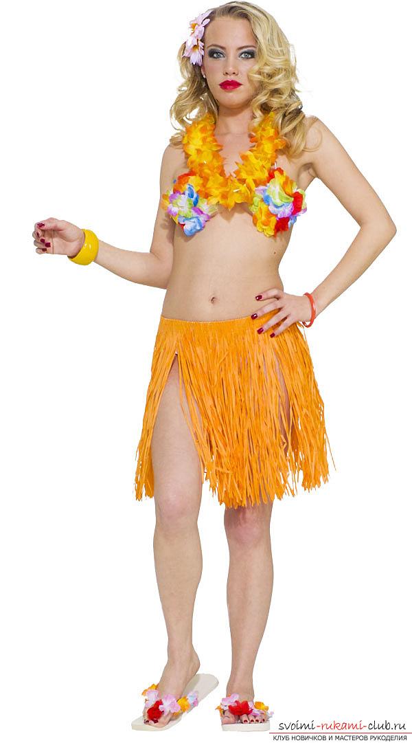 Гавайская юбка хула своими руками 19