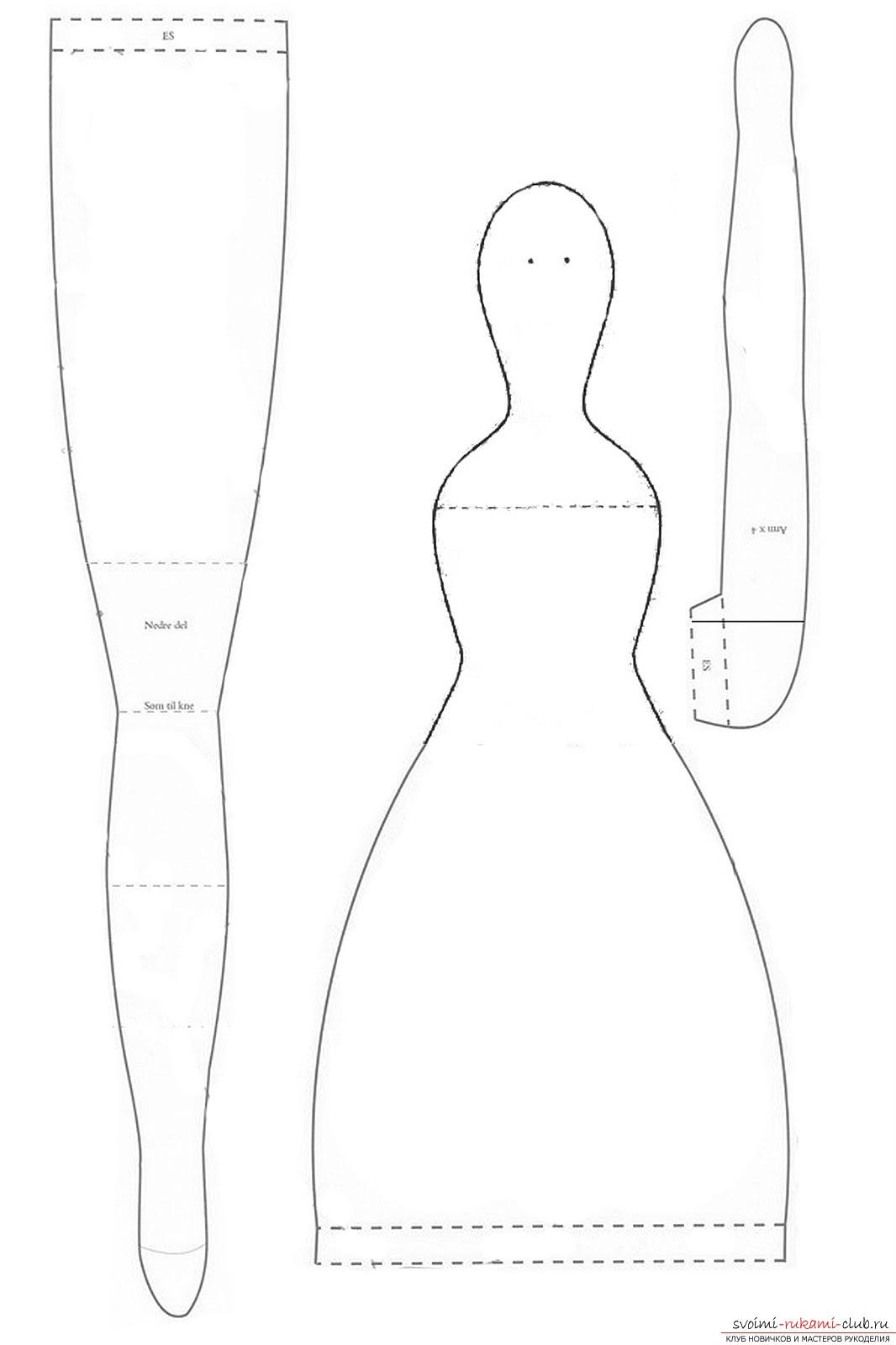Тряпичные куклы выкройки одежды