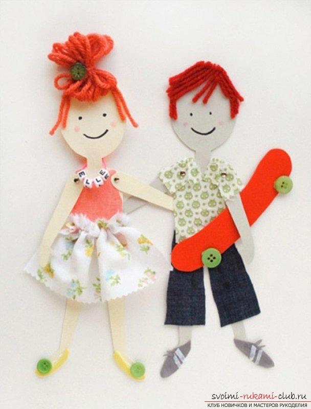 Кукла на картоне своими руками