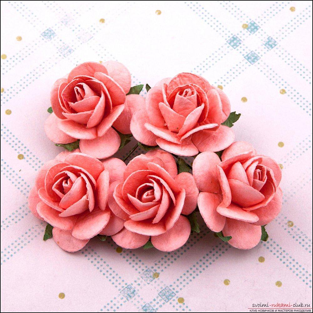 Цветы для шапочки своими руками