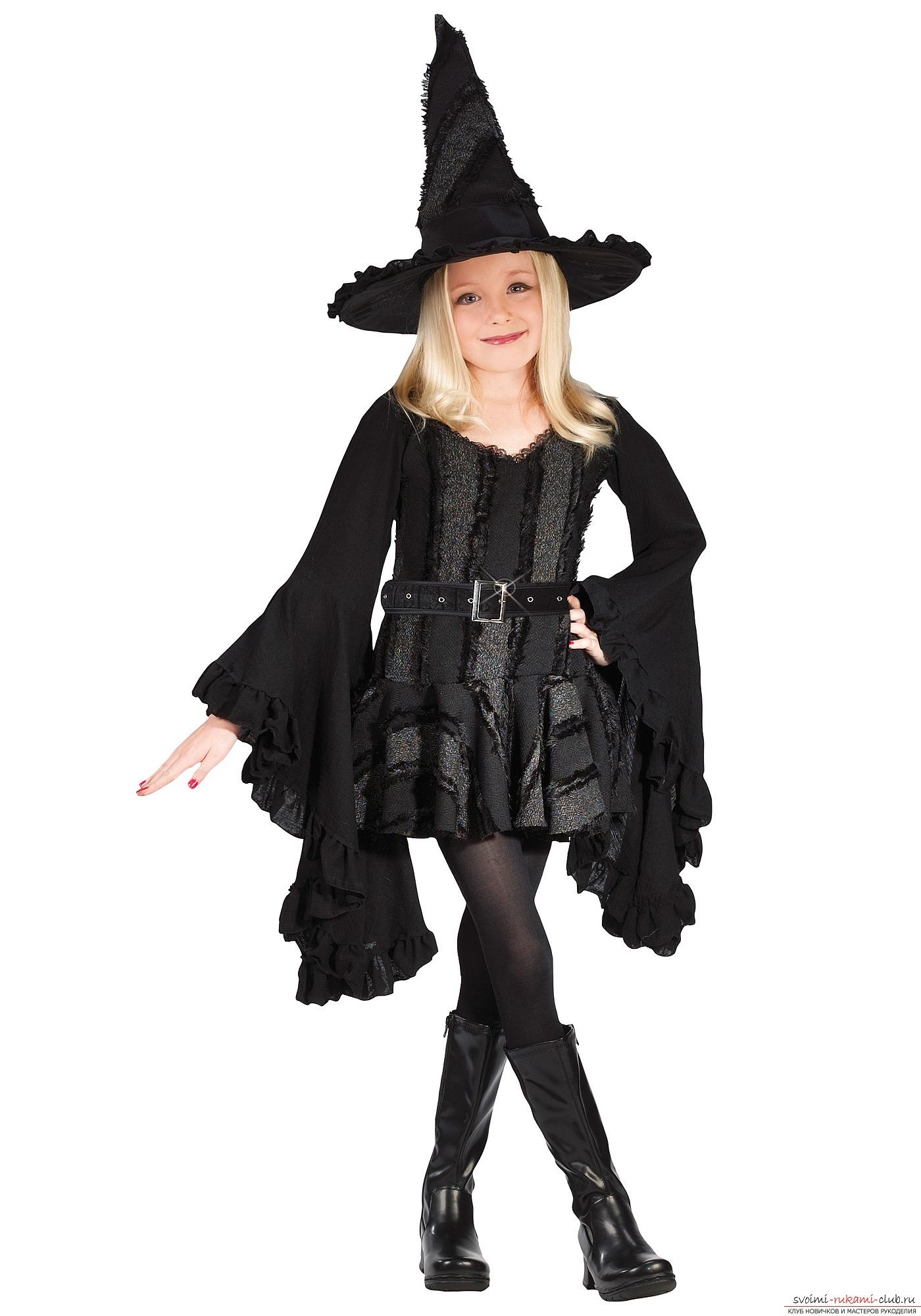 Костюм на хэллоуин ведьма для девочки