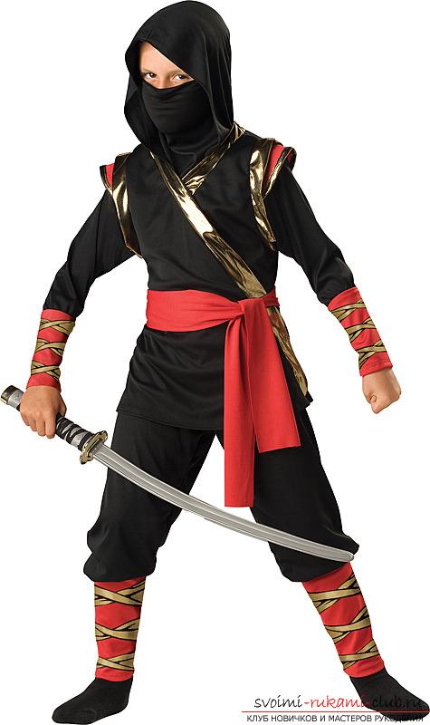 Карнавальные костюмы ниндзя для мальчиков своими руками