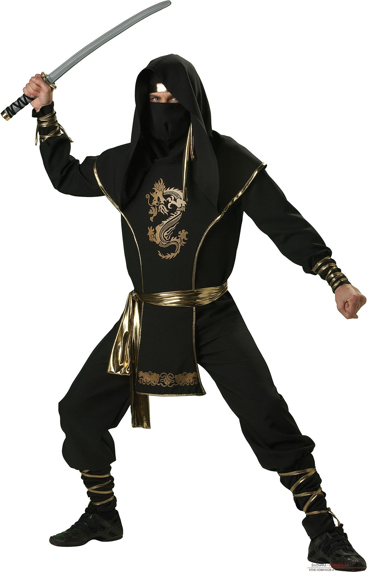 Как сшить костюм ниндзя своими руками фото 830