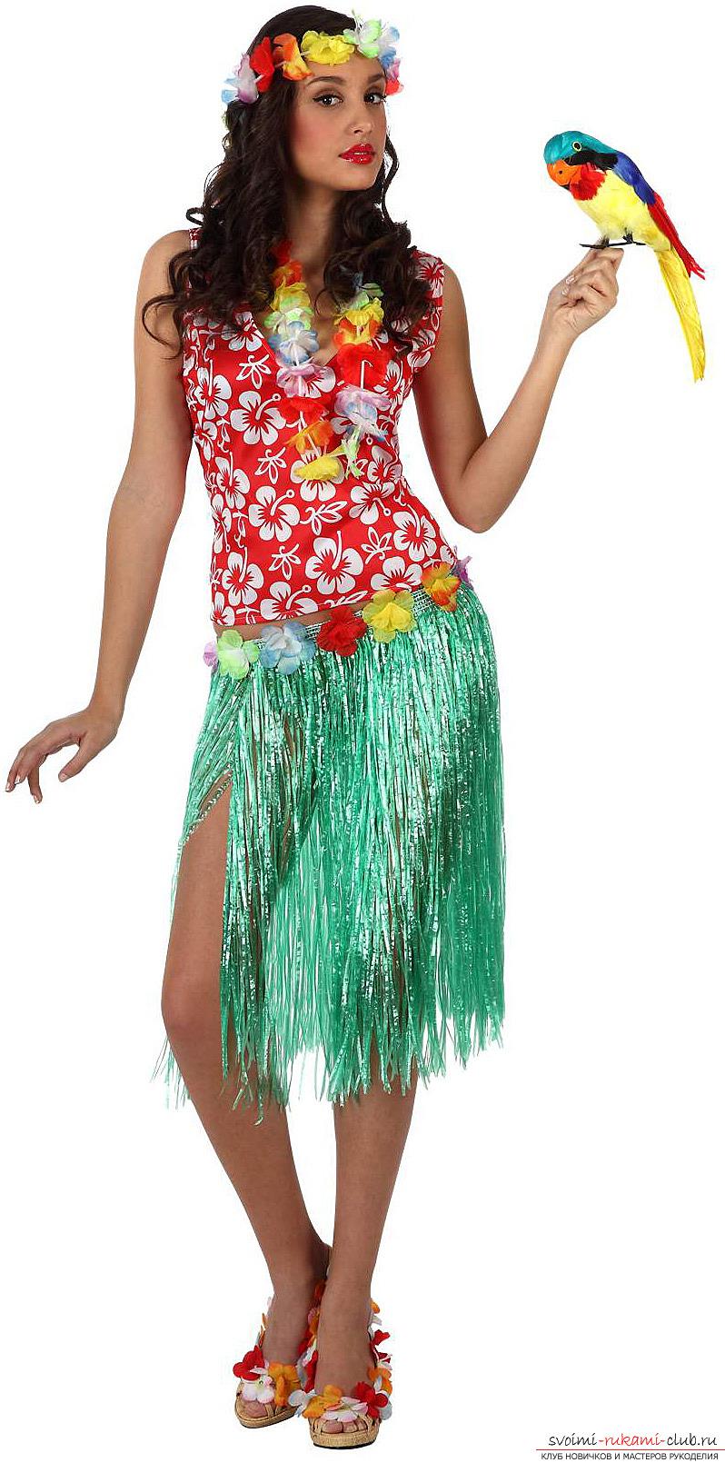 Гавайские костюмы своими руками фото