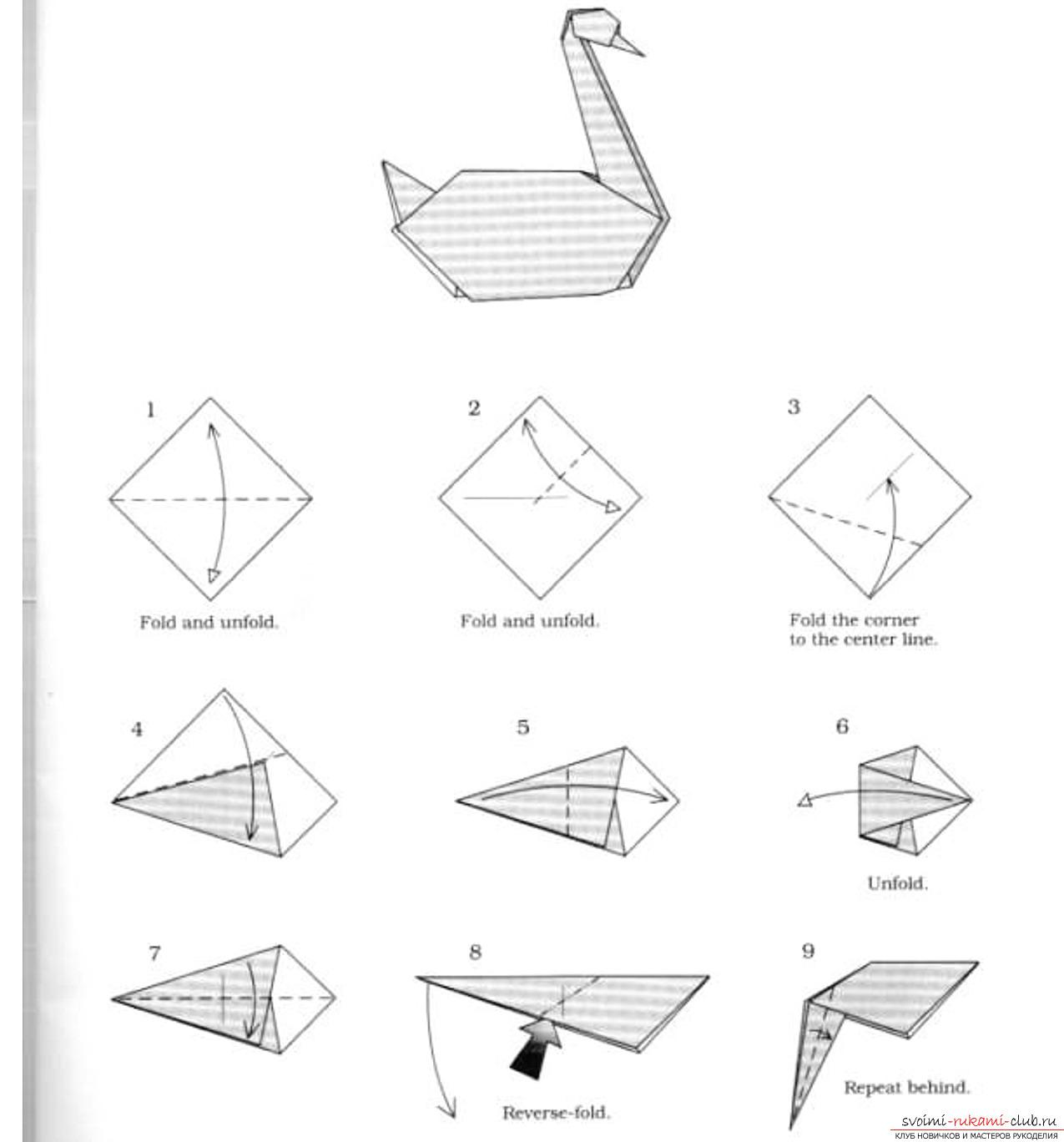 Lebed origami Mali Seznajovci  YouTube