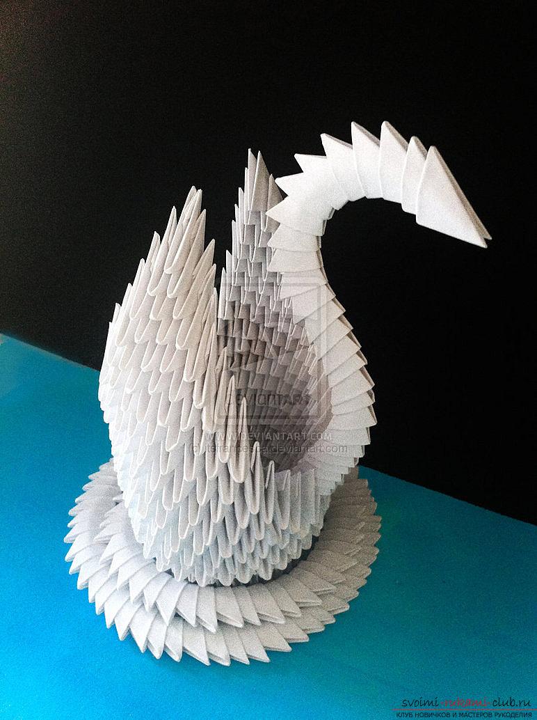 Модульное оригами для начинающих из бумаги: пошаговая 12