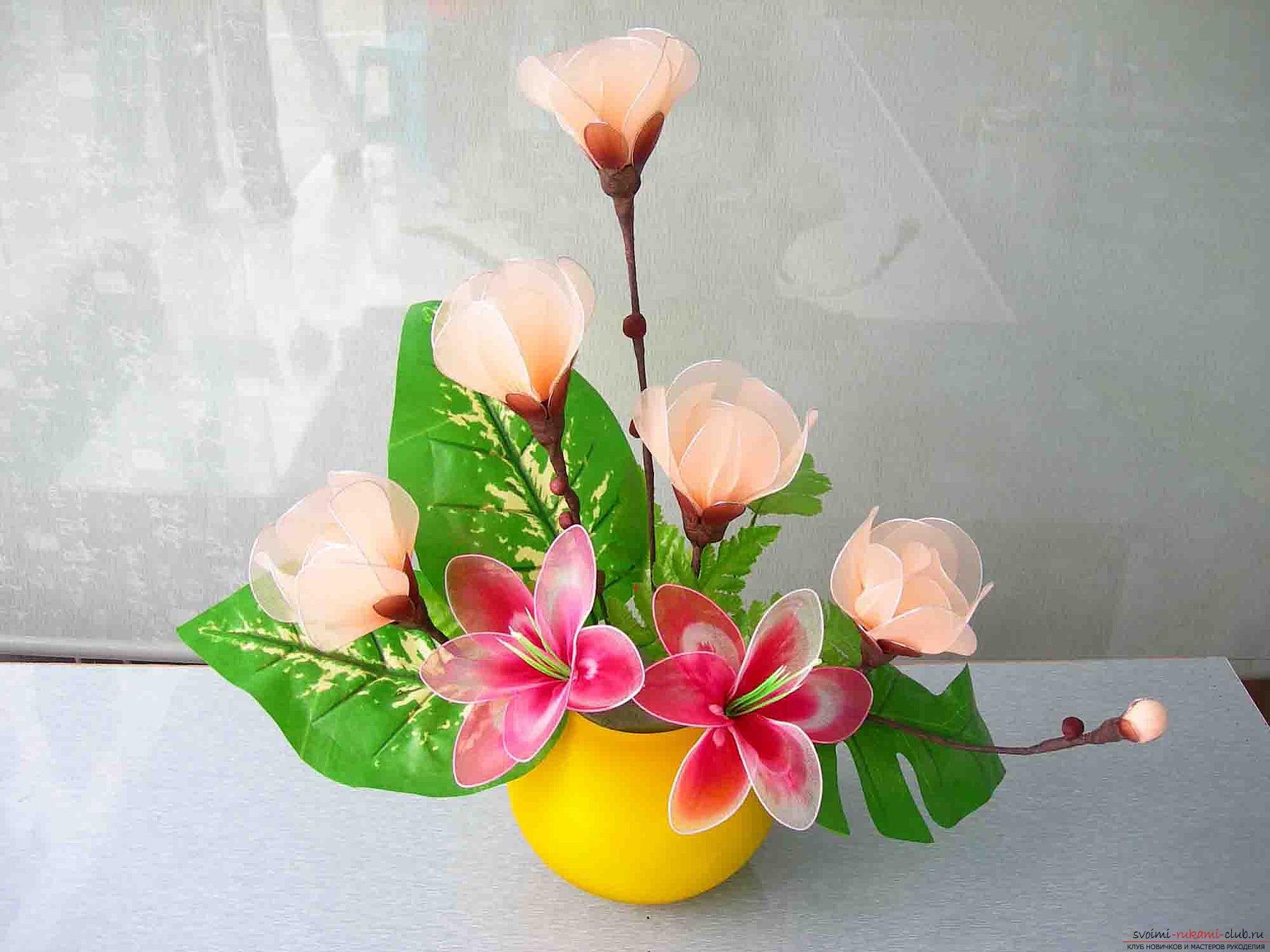 Цветы из своими руками мастер класс канзаши видео