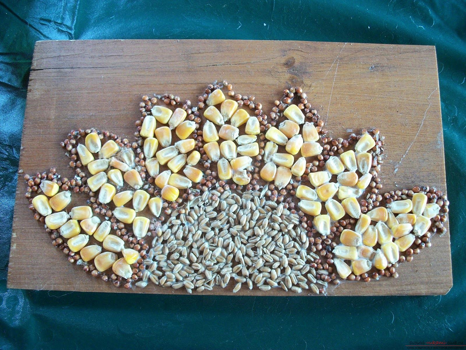 Поделки семена и семечки
