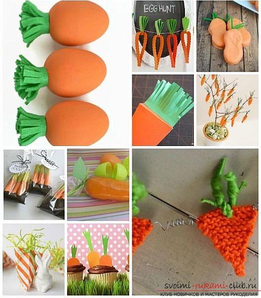 Поделка моркови и яблоками