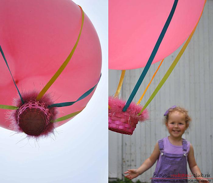 Подвеска из шаров своими руками