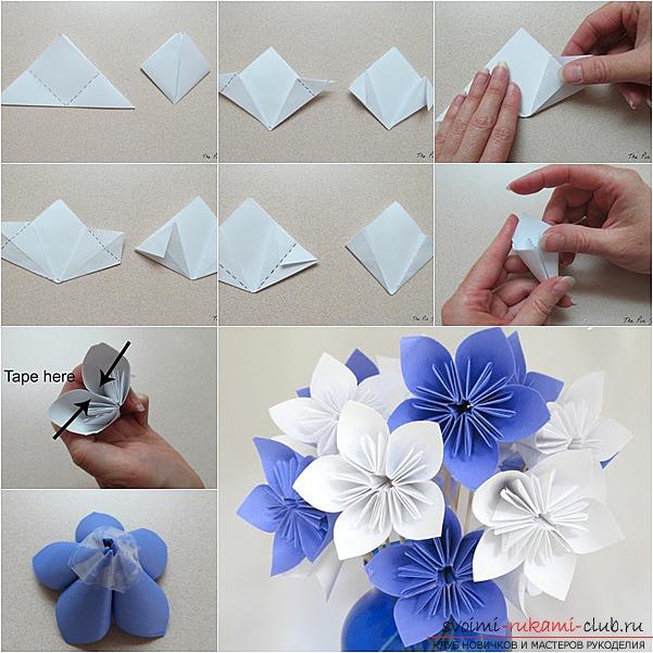 Как сделать красивые цветочки из бумаги