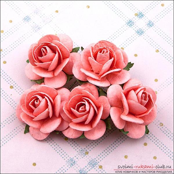 Как цветок из бумаги своими руками розы